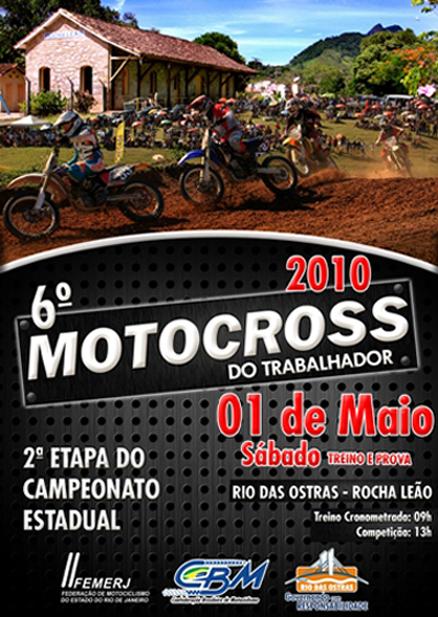 Sábado tem Motocross do Trabalhador em Rio das Ostras