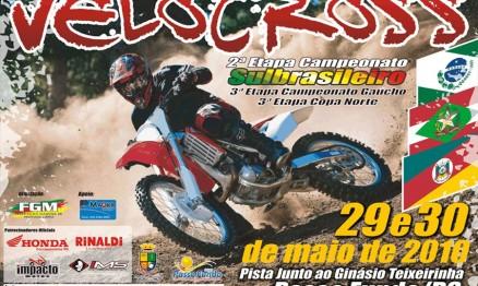 Cartaz de divulgação do Sul Brasileiro de Velocross