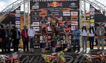 Pódio da categoria MX1 do GP de Portugal