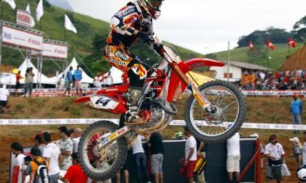 Leandrinho Silva conquistou o terceiro lugar na MX1