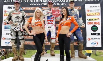 Pódio da MX2 na quarta etapa do Britânico de Motocross