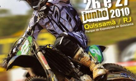 Cartaz de divulgação do Brasileiro de Motocross em Quissamã
