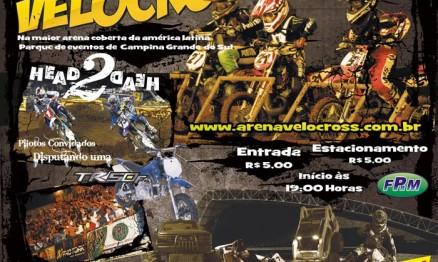Cartaz de divulgação do Paranaense de Arena Velocross