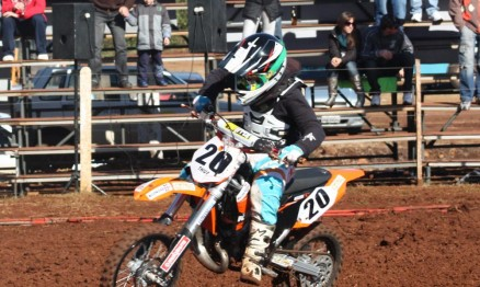 Arthur disputa o Campeonato Gaúcho de Motocross 2010
