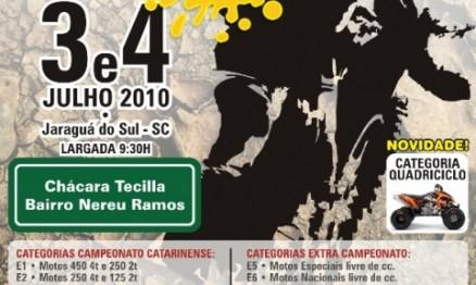 Cartaz de divulgação do Campeonato Catarinense de Enduro FIM