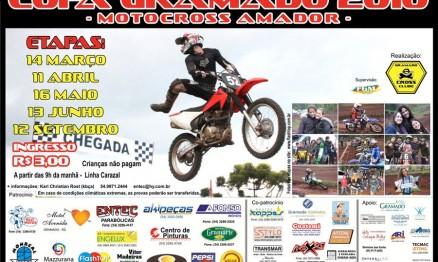 Cartaz de divulgação da Copa Gramado de Motocross Amador