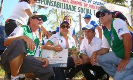 Equipe envolvida no projeto de reserva de carbono em Rondônia
