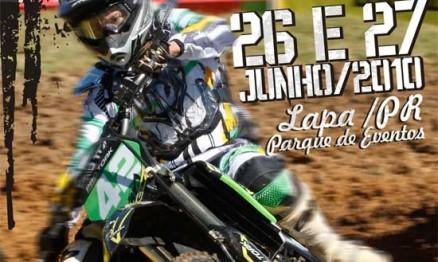 Cartaz de divulgação do Campeonato Paranaense de Velocross