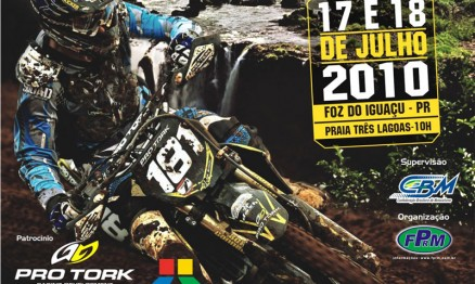 Cartaz de divulgação do Brasileiro de MX em Foz do Iguaçu