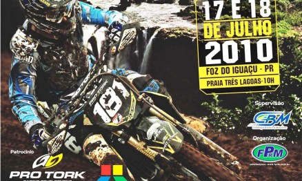 Cartaz de divulgação do Brasileiro de Motocross em Foz