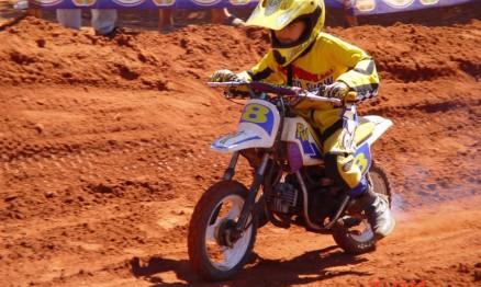 Esta foi a motinho em que Kioman estreou no Motocross