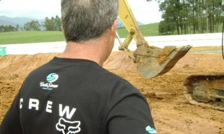 Atkins supervisionou a construção da pista de Canelinha em 2009