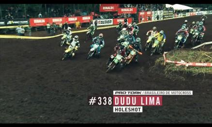 Dudu Lima fez o holeshot na categoria MX1 em Foz