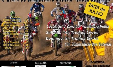 Cartaz de divulgação do Gaúcho de XC em Estância Velha