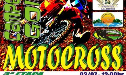 Cartaz de divulgação do Campeonato Goiano de Motocross