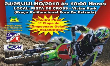Cartaz de divulgação dos campeonatos Brasileiro e Goiano de VX