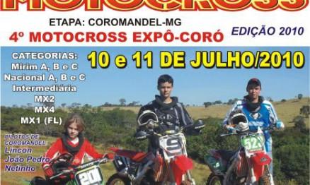 Cartaz de divulgação da Copa Paranaíba de Motocross