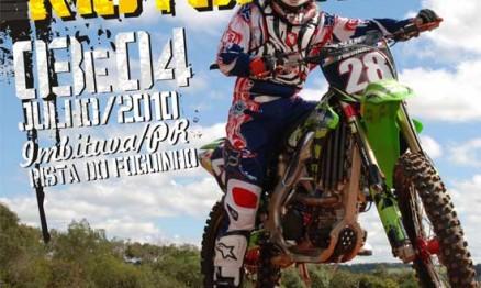 Cartaz de divulgação do Campeonato Paranaense de Motocross