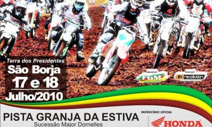Cartaz de divulgação do Gaúcho de Velocross em São Borja