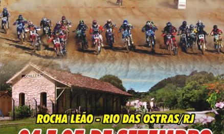 Cartaz de divulgação do Carioca de MX em Rocha Leão