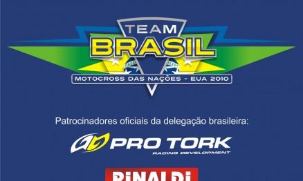 Logomarca do Team Brasil para o MX das Nações 2010