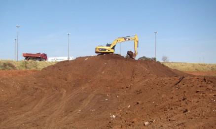 Fotos da construção da pista do GP Brasil de MX