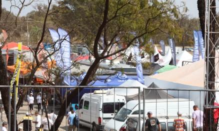 Visual dos boxes no GP Brasil de MX em Campo Grande