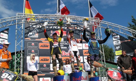 Musquin ocupou o lugar mais alto do pódio da MX2 em Loket