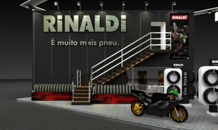 Visual do stand da Rinaldi no Salão da Motocicleta 2010