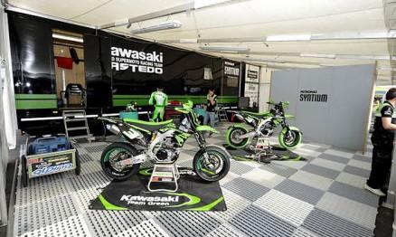 A equipe Nastedo/Kawasaki tem uma estrutura de ponta