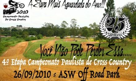 Cartaz de divulgação do Paulista de Cross Country