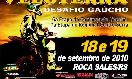 Cartaz de divulgação do Desafio Gaúcho de Veloterra
