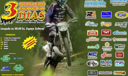 Cartaz de divulgação do Brasileiro de Enduro FIM