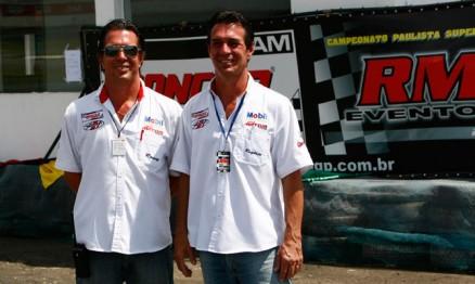 Os irmão Rogério e Roney da RM Eventos incentivam o SM