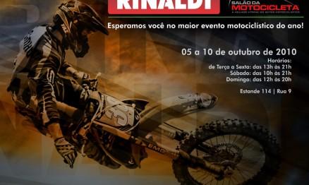 Pilotos patrocinados pela Rinaldi estarão presentes no salão