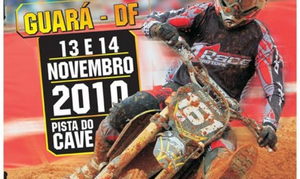 Cartaz de divulgação do Brasileiro de Motocross em Guará