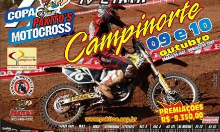 Cartaz de divulgação da Copa Pakito's de Motocross