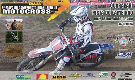 Cartaz de divulgação do Brasileiro de MX Júnior em Guarapari