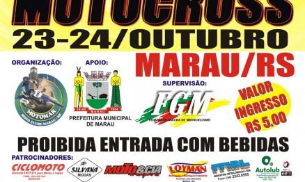 Cartaz de divulgação do Gaúcho de Motocross