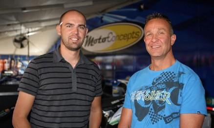 Vuillemin com Mike Genova que é o dono da equipe MotoConcepts