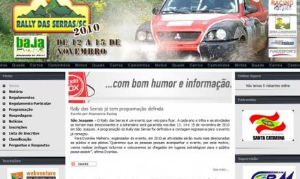Rally das Serras será final do Brasileiro de Rally XC