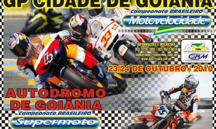 Cartaz de divulgação do Brasileiro de Motovelocidade e Supermoto