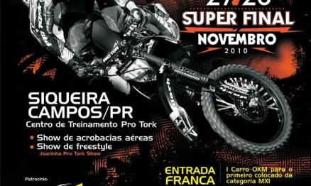 Cartaz de divulgação do Brasileiro de Motocross em Siqueira