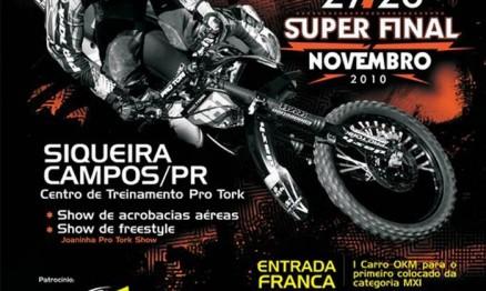Cartaz de divulgação do Brasileiro de MX em Siqueira Campos