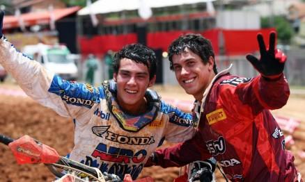 Wellington e Swian são companheiros de equipe na Honda