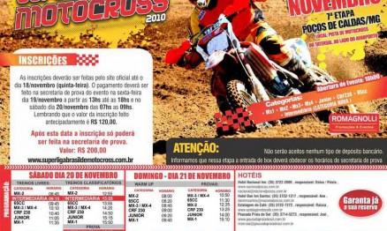 Cartaz de divulgação da Superliga de MX em Poços de Caldas