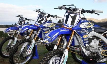 Motos da equipe MotoConcepts / Yamaha