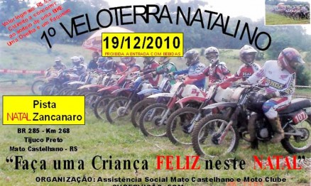 Cartaz de divulgação do Veloterra Natalino 2010