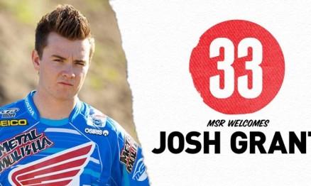 Josh Grant correrá o AMA Supercross pela equipe oficial Honda