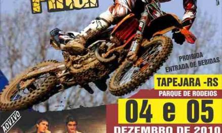 Cartaz de divulgação da final do Gaúcho de MX em Tapejara